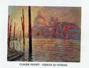 """Poster de arta """"Veduta di Venezia"""" de Monet"""