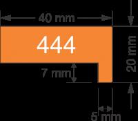 Rama neagra simpla adanca 444-07