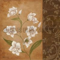Tablou decorativ cu flori albe